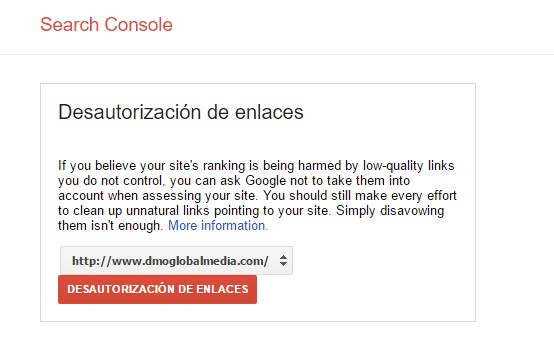 analizar backlinks enlaces externos disavow tool