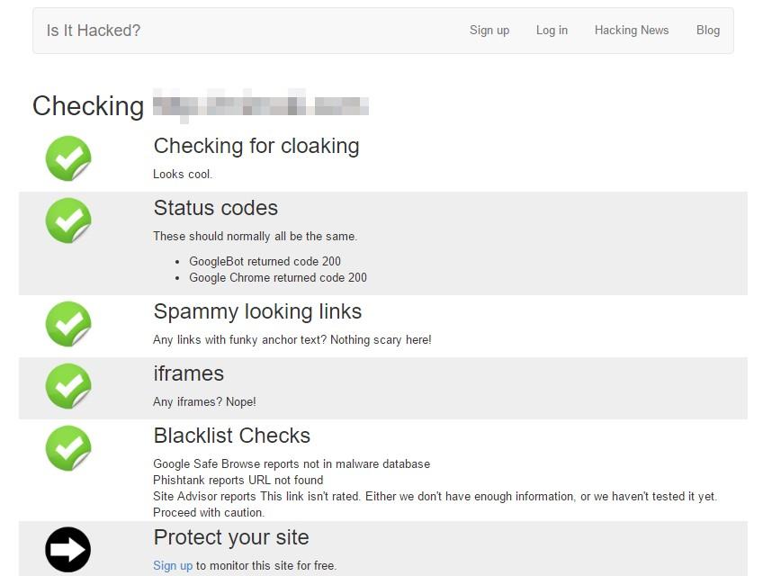 deteccion malware isithacked resultados