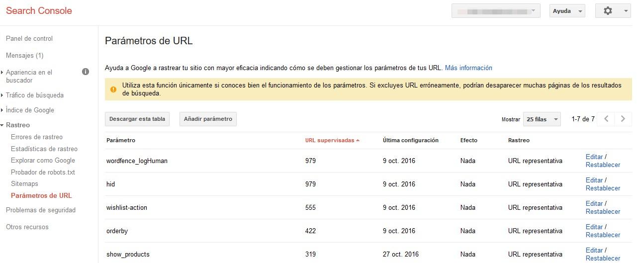 estructura web parametros url