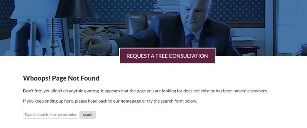 pagina 404 personalizada buena
