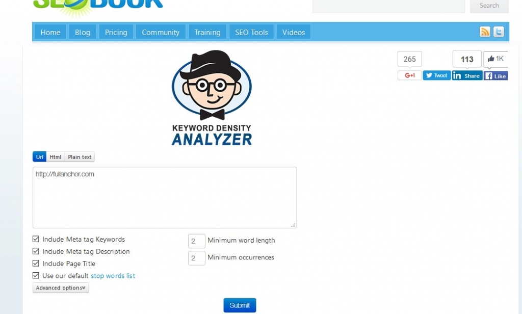 posicionamiento pagina web analisis densidad palabra clave