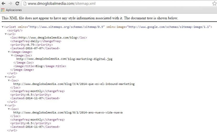 sitemap.xml codigo