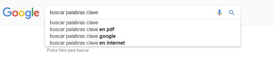 herramientas de palabras clave autocompletar google