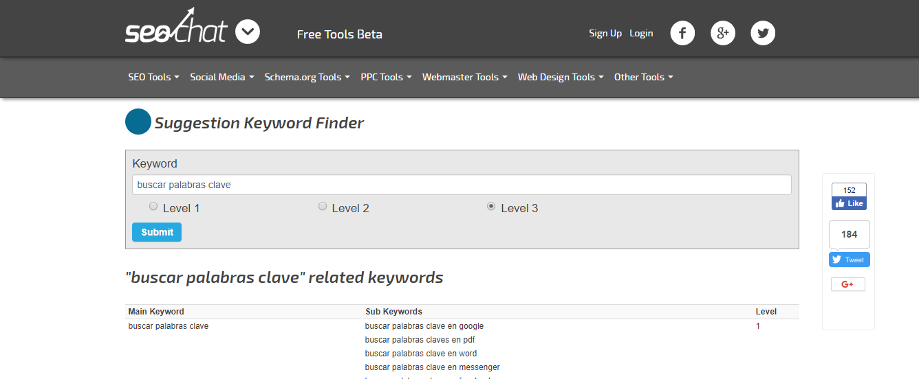 herramientas de palabras clave suggestion keyword finder