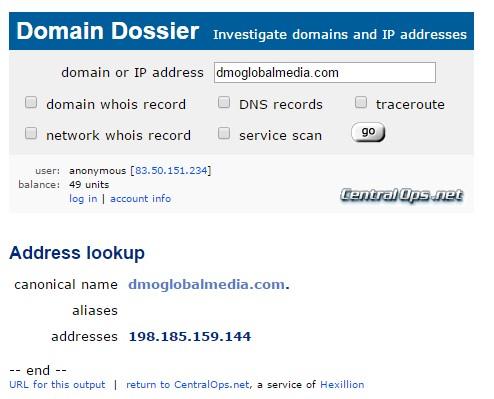 herramientas dominios ipinfo