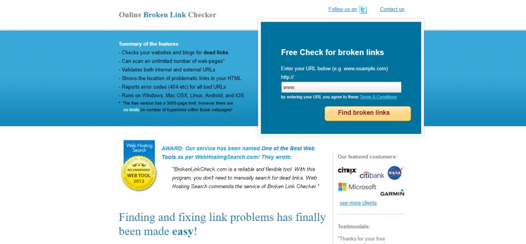 Herramientas detectar enlaces rotosBroker Backlink Explorer