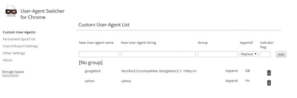 navegacion google bot configuracion