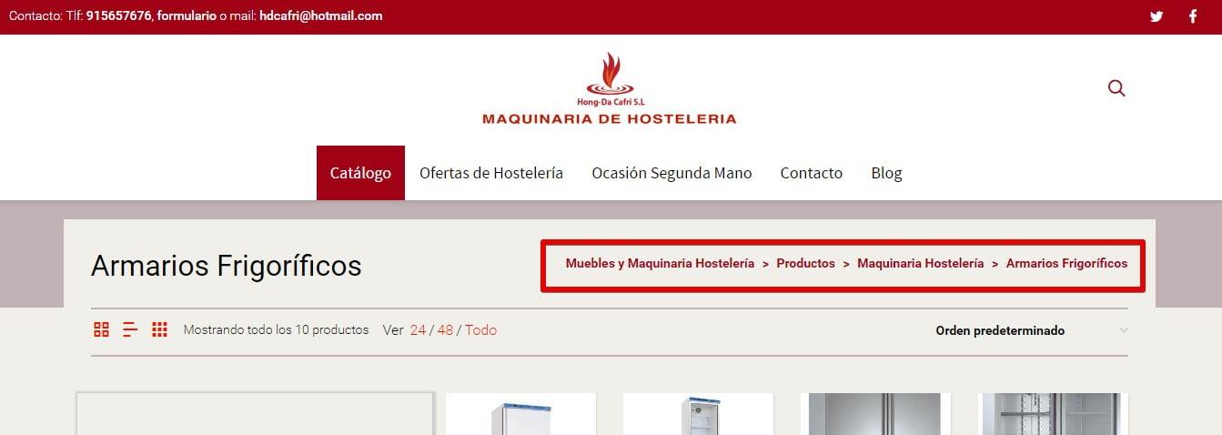 posicionamiento pagina web migas pan
