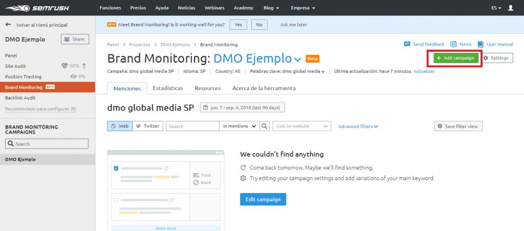 posicionamiento seo buscadores brand monitoring anadir campana