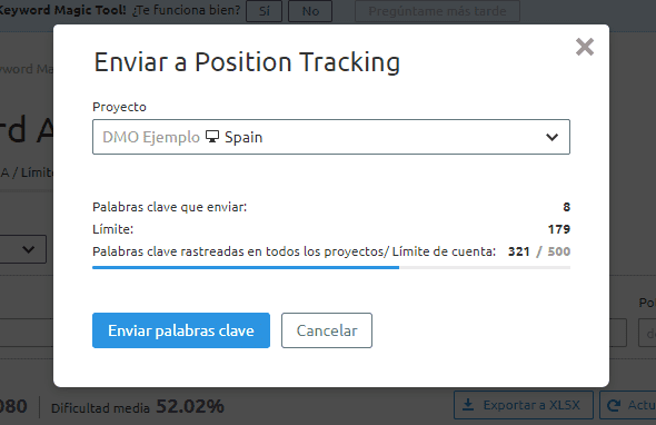 posicionamiento seo buscadores enviar palabras clave positioning ranking