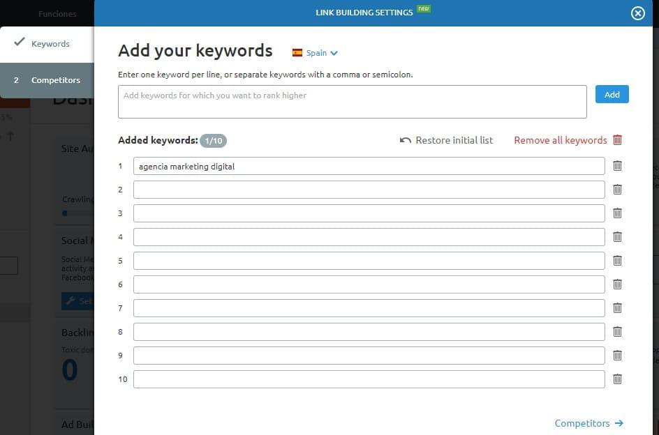 posicionamiento seo buscadores link building configuracion