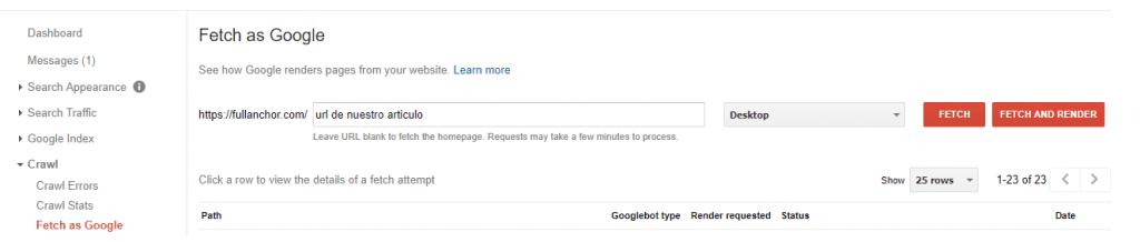 redaccion seo fetach as google