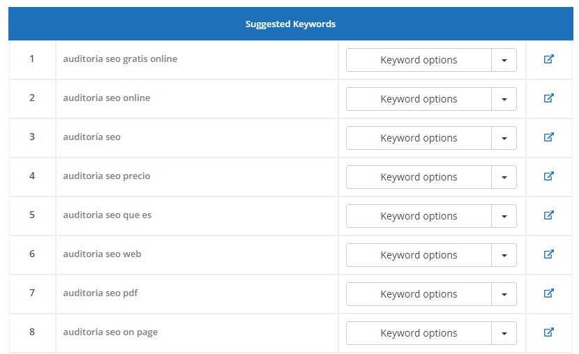 redaccion seo keyword suggestion