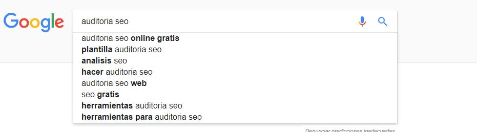 redaccion seo sugerencias google