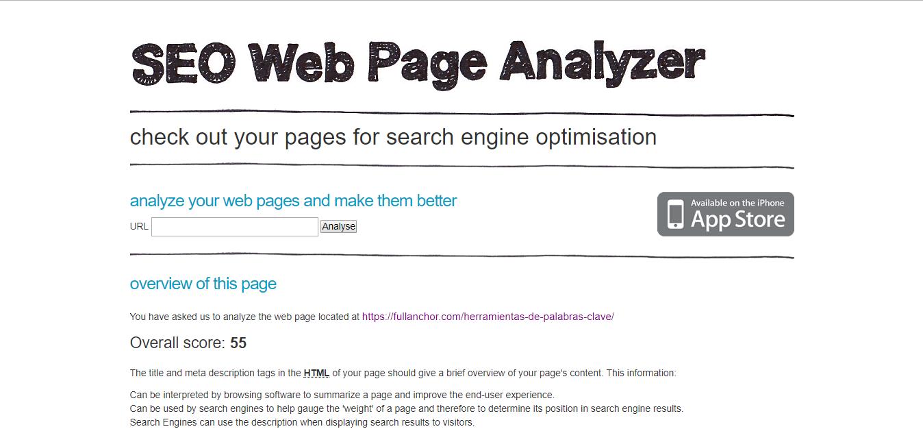 herramientas analisis seo auditoria seo webpageanalizer