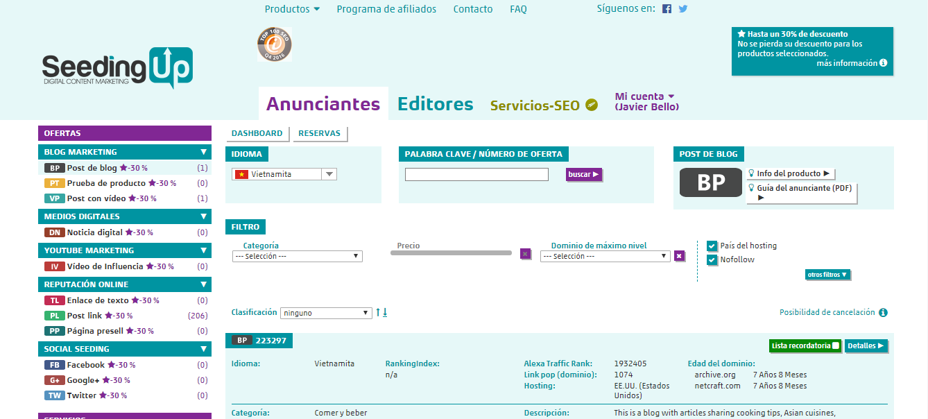 comprar enlaces backlinks calidad seedingup