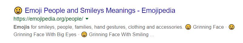 meta description emojis