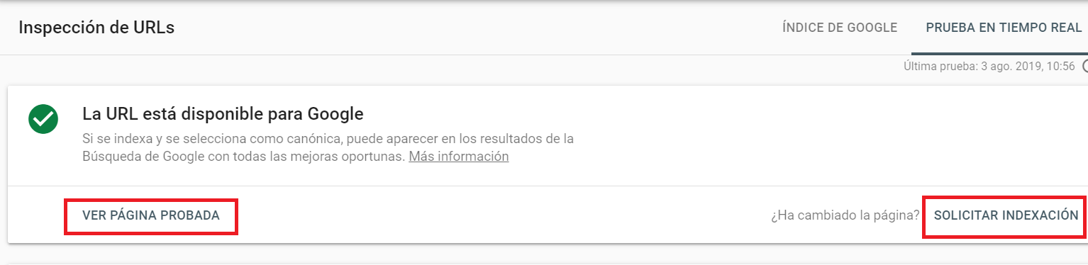 meta description solicitar indexacion