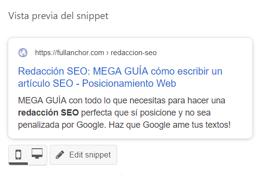 meta description yoast seo