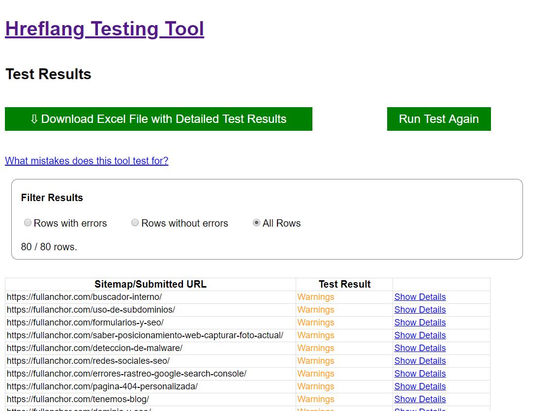 posicionamiento seo internacional hreflang testing tool