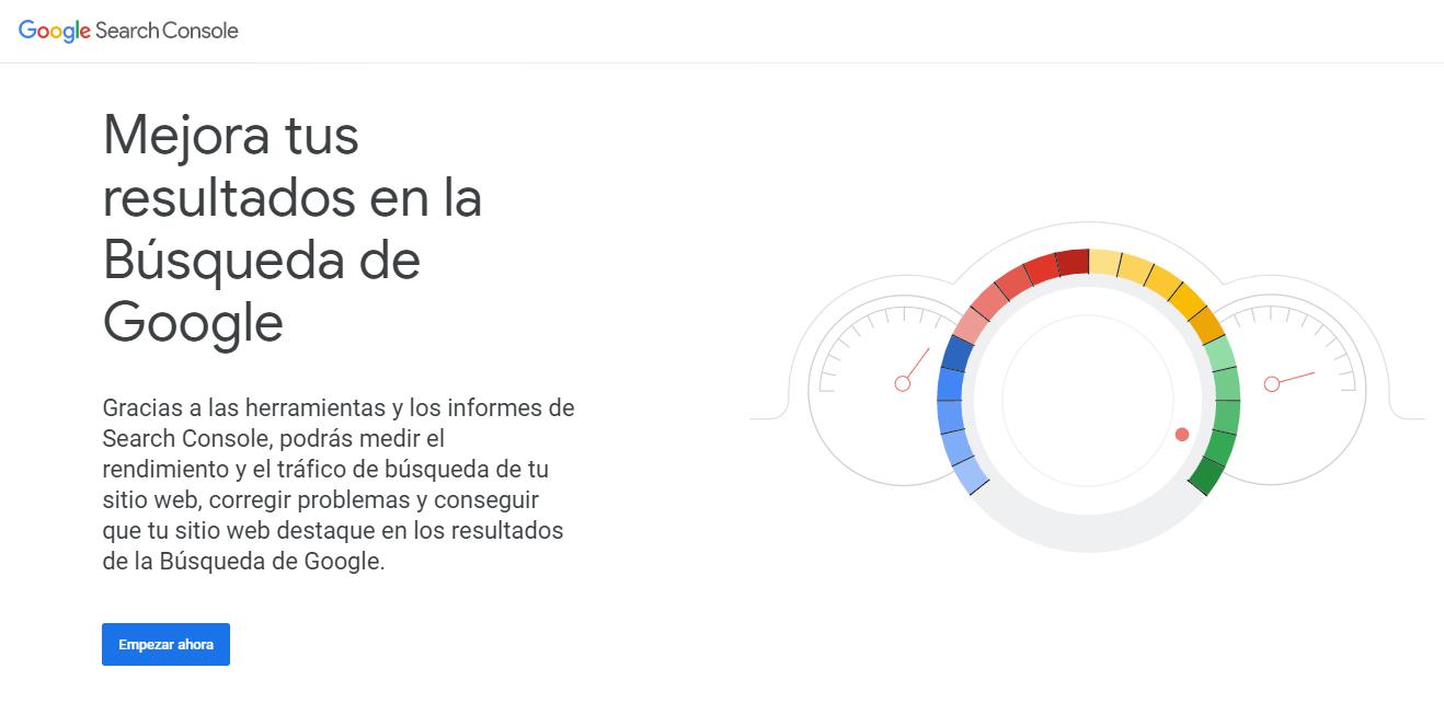 alta google search console inicio