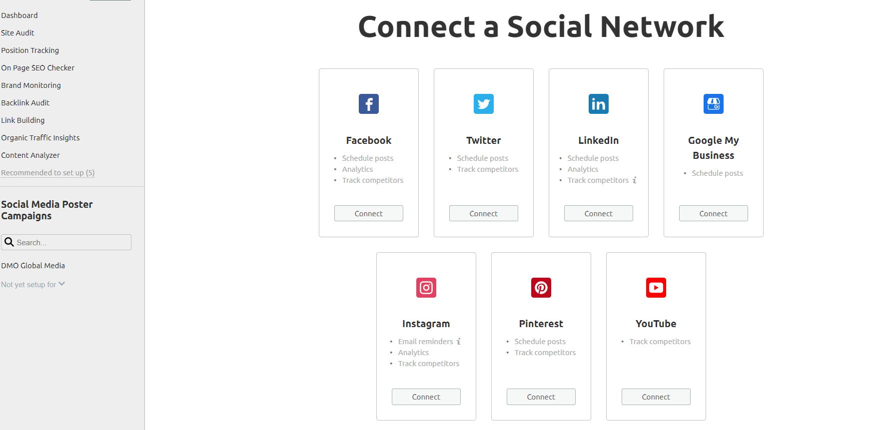 ahrefs vs semrush vs moz social media semrush