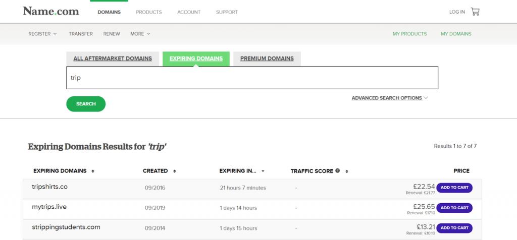 encontrar buscar dominios caducados name